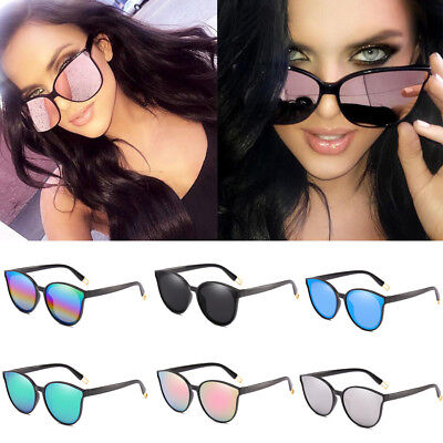 New Fashion Oversized Sunglasses Cat Eye Flat UV400 Eyewear Mirror Square Women