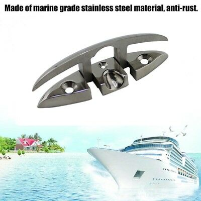 "【Ships from Canada】Amarine-made 6"" Stainless Folding Cleat, Flip-up Dock Cleat"