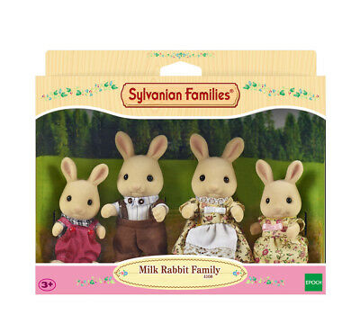 Sylvanian Families Family Set 4108 Milk Rabbit Family /3+