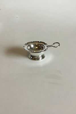 Georg Jensen Sterling Silver Tea Strainer No 86 and Tea Strainer Holder No 363B