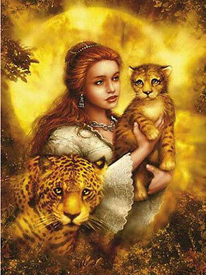 KING OF THE Lion With Beauty Diamond Painting Cat DIY Cross Stitch KIT 5D