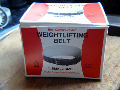 Leather Weight Lifting Belt 4inch Wide Small.Unused ..NIB