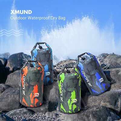 20L Sports Waterproof Dry Bag Backpack Pouch Floating Boating Kayaking Camping