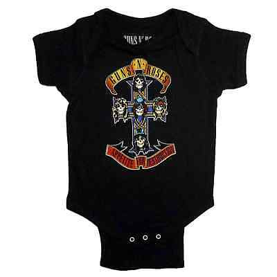 Guns N Roses Appetite Cross Baby One Piece Bodysuit Infant Romper Official 0-24