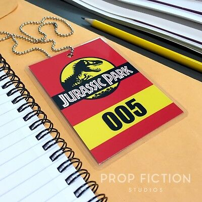 Jurassic Park - Prop Tour Vehicle Tag Badge / Car Access ID Cosplay Card