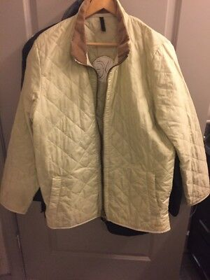 Barbour Classic Country Jacket Quilted Size Men M Poly Velour Shell