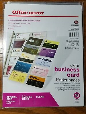 Office depot business card binder pages 8 12 x 11 clear pack of office depot business card binder pages 8 12 x 11 clear pack colourmoves