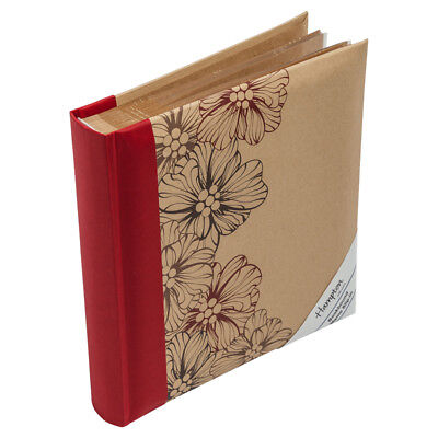 Kraftline Photo Album 160 4x6 5x7 Slip in Red Blue And Beige With Floral Pattern
