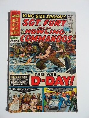 Marvel Sgt. Fury and his Howling Commandos #2 1966 VG Condition