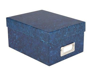 """ALBOX700BLUE Photo Storage Box with Lid that Holds up to 700 4x6"""" Photographs"""