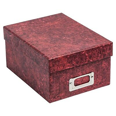 "ALBOX700RED Red Photo Storage Box with Lid Holds up to 700 4x6"" Photographs"