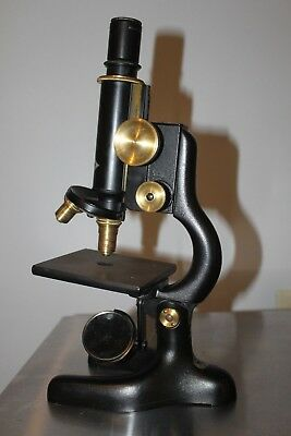 Vintage Bausch and Lomb Brass Compound Microscope