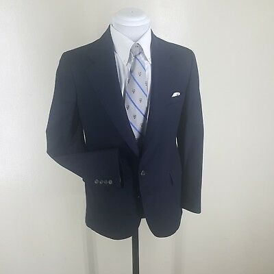Boys Polo By Ralph Lauren Vintage Made In The U.s.a. Blue Wool Blazer 17 Reg.