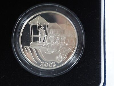 2003 Silver & Gold $5 Five Dollar Bermuda ROYAL VISIT superb