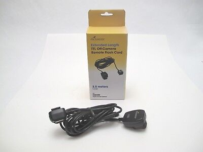 PROMASTER- Extended Length TTL Off-Camera Remote Flash Cord - 11.5 FT For Nikon