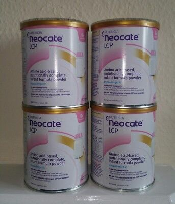 Neocate LCP 400g Tin Baby Formula, 4x400g sealed tins.