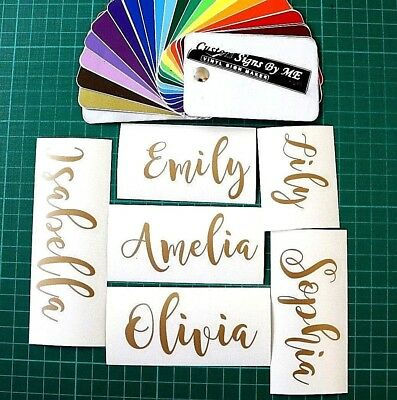 2x Personalised Name Sticker Vinyl Decal Adhesive Wedding Wine Glass Gift Card G