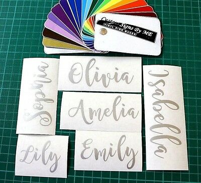 2x Personalised Custom Names Stickers Decals Adhesive Wine Glass Gift Card SLVER