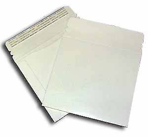 "Large White Cardboard CD Mailer  6"" X 6-3/8"" with Adhesive Flap - 50 Pack"