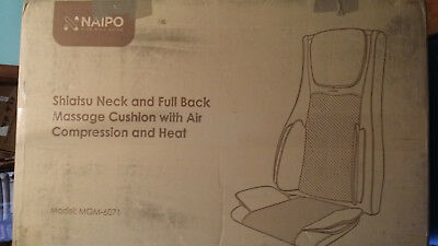 Naipo Shiatsu Neck And Back Massage Cushion With Air Compression And Heat