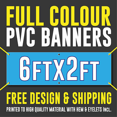 Full Colour Outdoor PVC Banner - 6ft x 2ft - Sign for Business Birthdays Parties