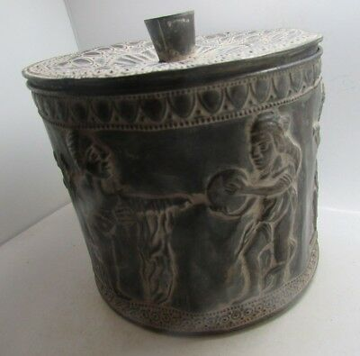 Circa 500-300Bc Persian Hand Beaten Decorated Safe Box With Pictorial Scenes