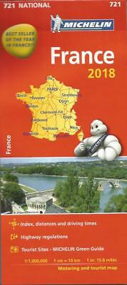 France 2018 Map Michelin 721 - Free Pocket Atlas Included - New