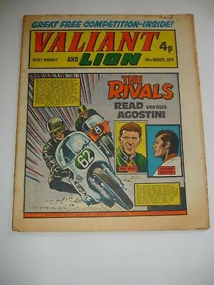 VALIANT And LION comic 24th August 1974.