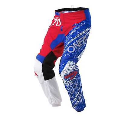 O'Neal-MX Element Burnout Adult Pants, Red/White/Blue, US-30