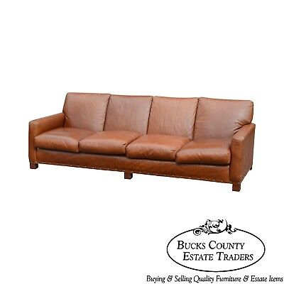 Ralph Lauren Large Brown Leather Sofa