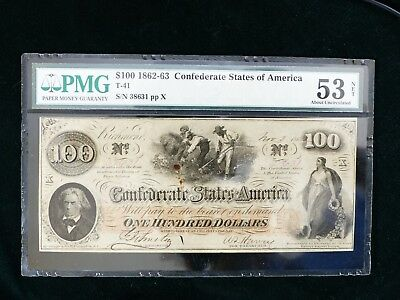 confederate currency $100 PMG