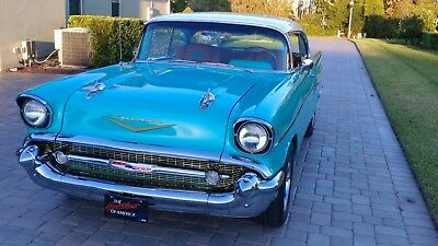 1957 Chevrolet Bel Air/150/210 Chrome 57 Chevy Belair, 350 with Thump-er Cam, Body off Restoration, Tropical Turquoise