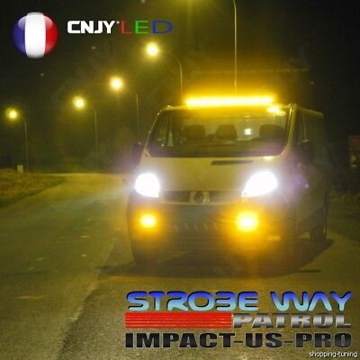 "Rampe De Toit Magnetique -Barre De Defilement Cnjy Us ""impact"" 64Cm Feux Led"