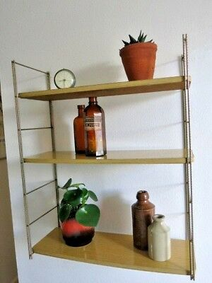 Vintage Mid Century French String Shelving Unit 20th Century Shelves