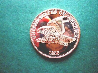 1856 Flying Eagle Cent 1Oz Copper Round