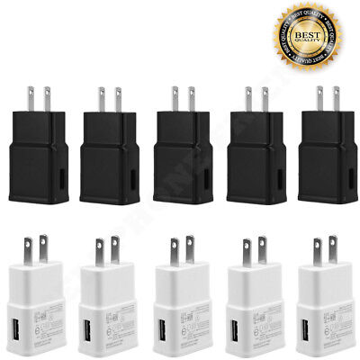 Lot 2A USB Power Adapter AC Home Wall Charger US Plug For Samsung Galaxy S5 6 7