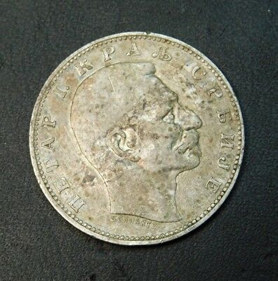 1912 Serbia 1 Dinar No reserve Auction on this scarce coin