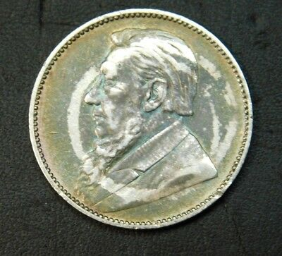 1895 South Africa 1 Shilling  No reserve Auction on this scarce coin