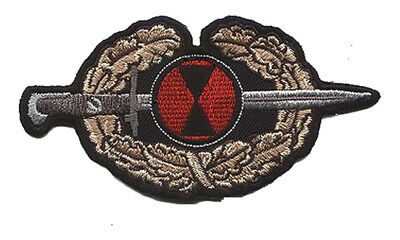 "7th Infantry Division ""Military Order of the Bayonet"" Wax backed Patch BAYONET!"
