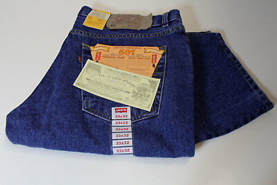 LEVI'S 501 BUTTON FLY BLUE JEANS W33 L32 - made in USA