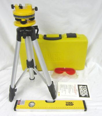 ToolShop 244-5306 Professional Multi-Beam Laser Level Tool Shop Kit + Case