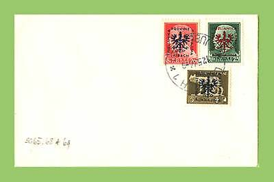 Slovenia (German Occ.) 1944 5c, 20c & 25c Italian overprints on cover
