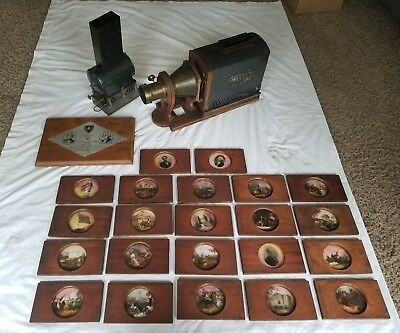 Antique Kerosene Projector Converted To Electric
