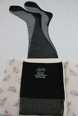 Lady Oris Deluxe Vintage Seamed Stockings FIRST QUALITY size 10 x 32.5