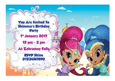 Personailsed nick jr shimmer and shine birthday party invitations personailsed nick jr shimmer and shine birthday party invitations pack of 12 filmwisefo