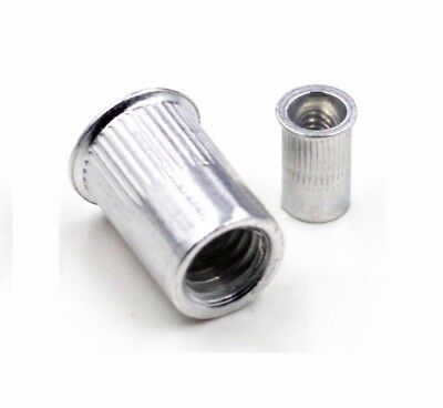 Rivet Nut Small Countersunk Head Open Knurled M3 M4 M5 M6 M8 M10 Stainless A2