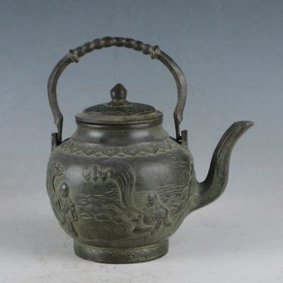Chinese Rare Bronze Eight Immortal Teapot Made During The Qianlong PeriodHST0026