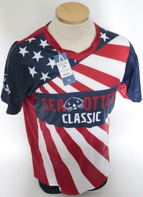 New Primal Mens Sea Otter Classic Red White Blue Mountain Bike MTB Jersey  Medium 4f4bb6991