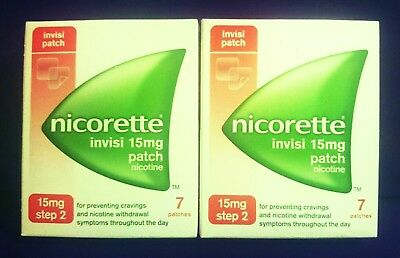 Nicorette 15mg  ( 14 INVISI PATCHES )  Step 2  Nicotine Replacement Stop Smoking