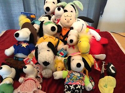 X16 NEW Snoopy Peanut's Plush Lot Vintage NOS NWT Stuffed Animal  Charles Schulz